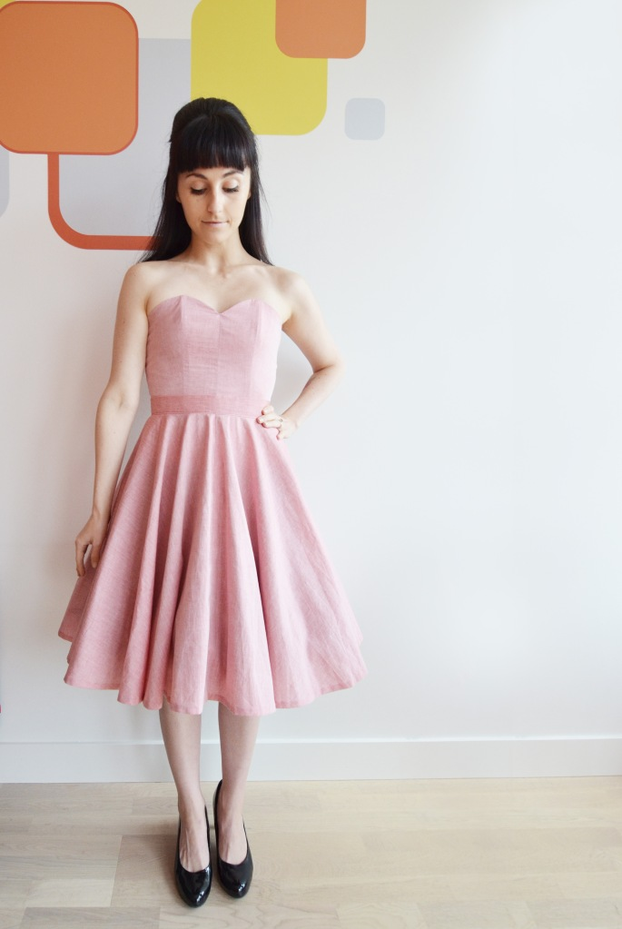 bustier circle skirt