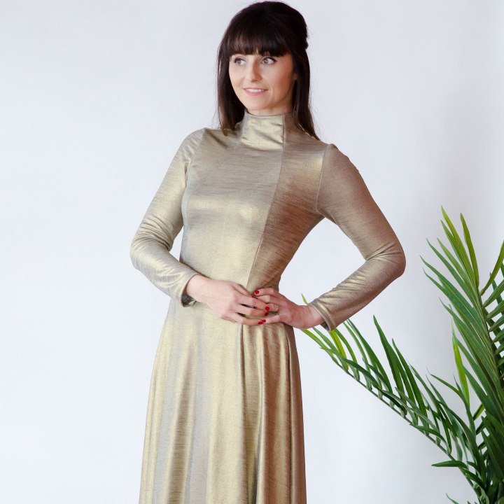Gold Jackie Knit Dress